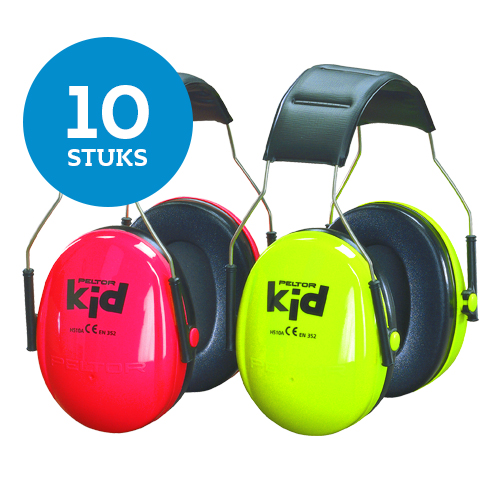 10 x Peltor KID Groen of Roze